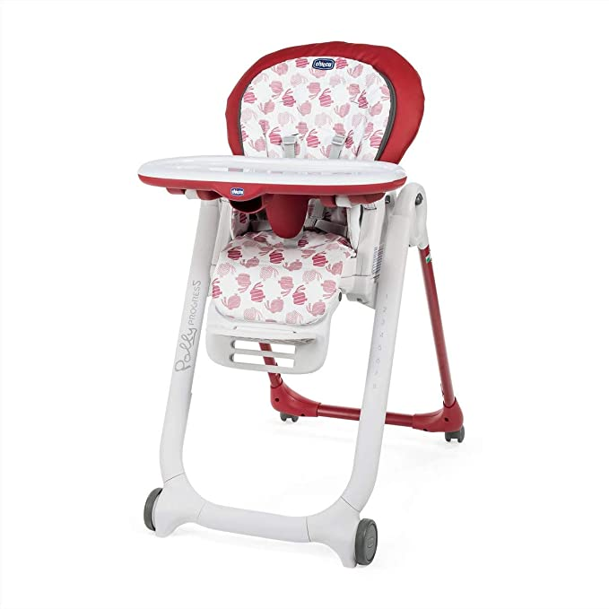Chicco Polly Progres5 Highchair Red